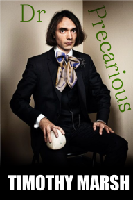 A picture of a dandy man sitting awkardly and holding what might be a ball or a skull.